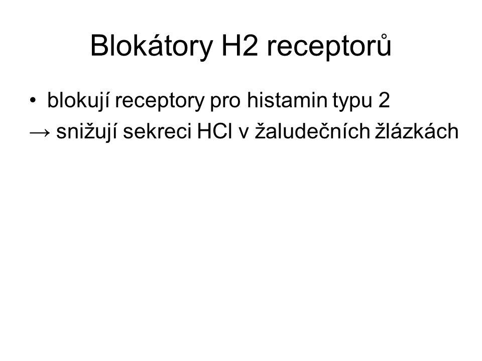 Blokáda sekrece HCl