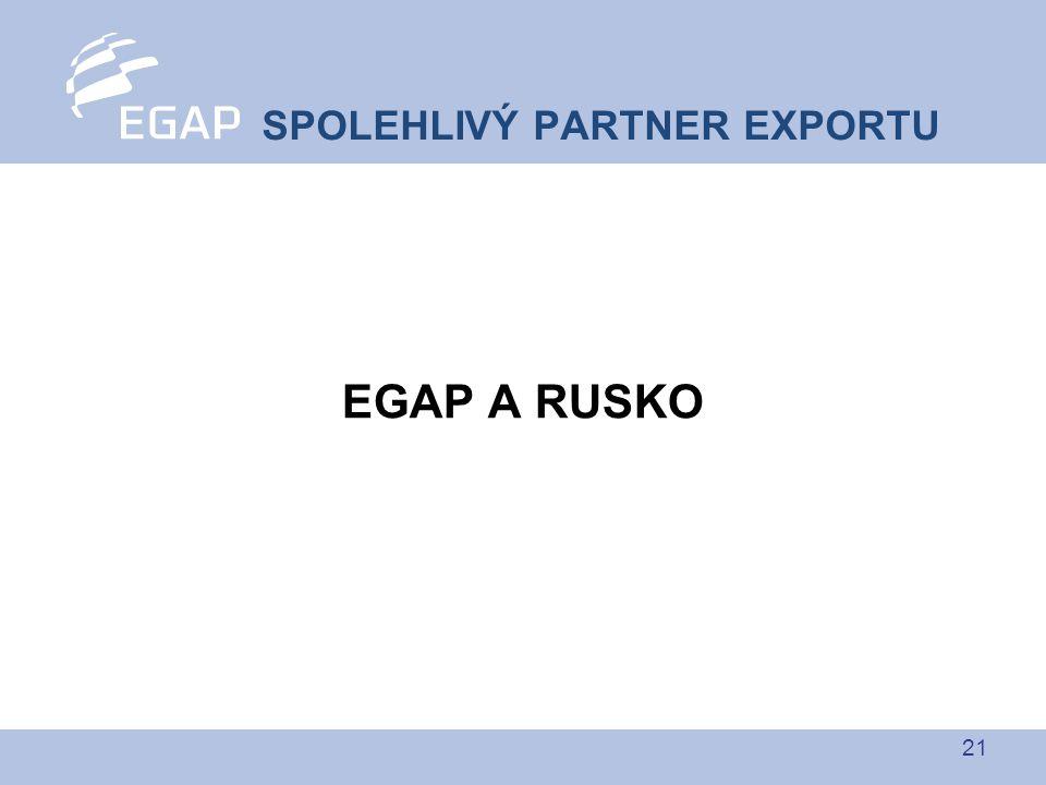 21 EGAP A RUSKO SPOLEHLIVÝ PARTNER EXPORTU