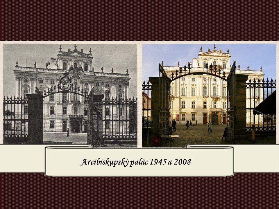 Arcibiskupský palác 1930 a 2007