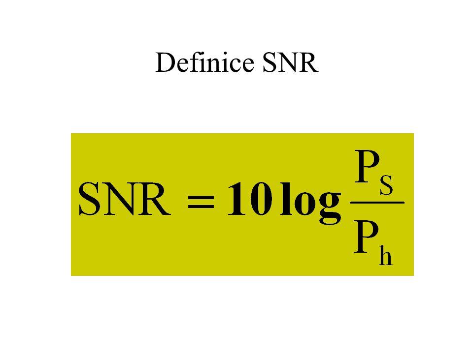 Poměry rušení Užitečný signál Šum / Hluk 1:1  0 dB 21,8 dB pro přenos 4 bitů (BER  10 -7 )