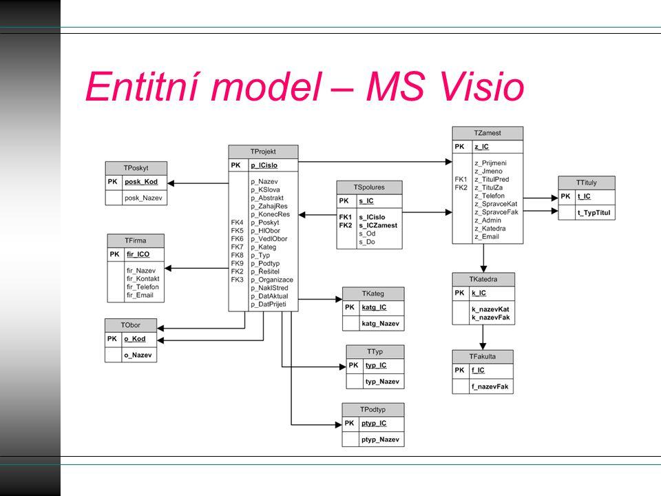SQL server Management studio Připojení k serveru: