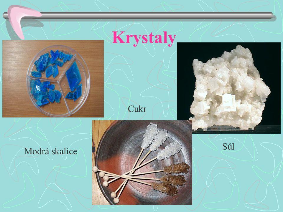 Krystaly Modrá skalice Sůl Cukr