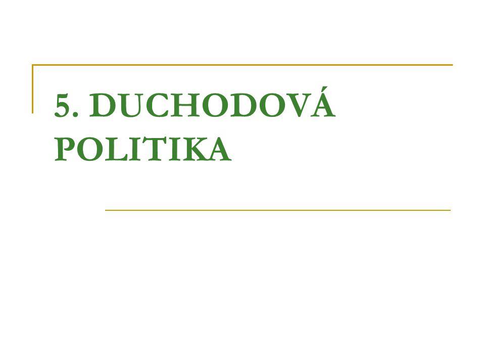 5. DUCHODOVÁ POLITIKA