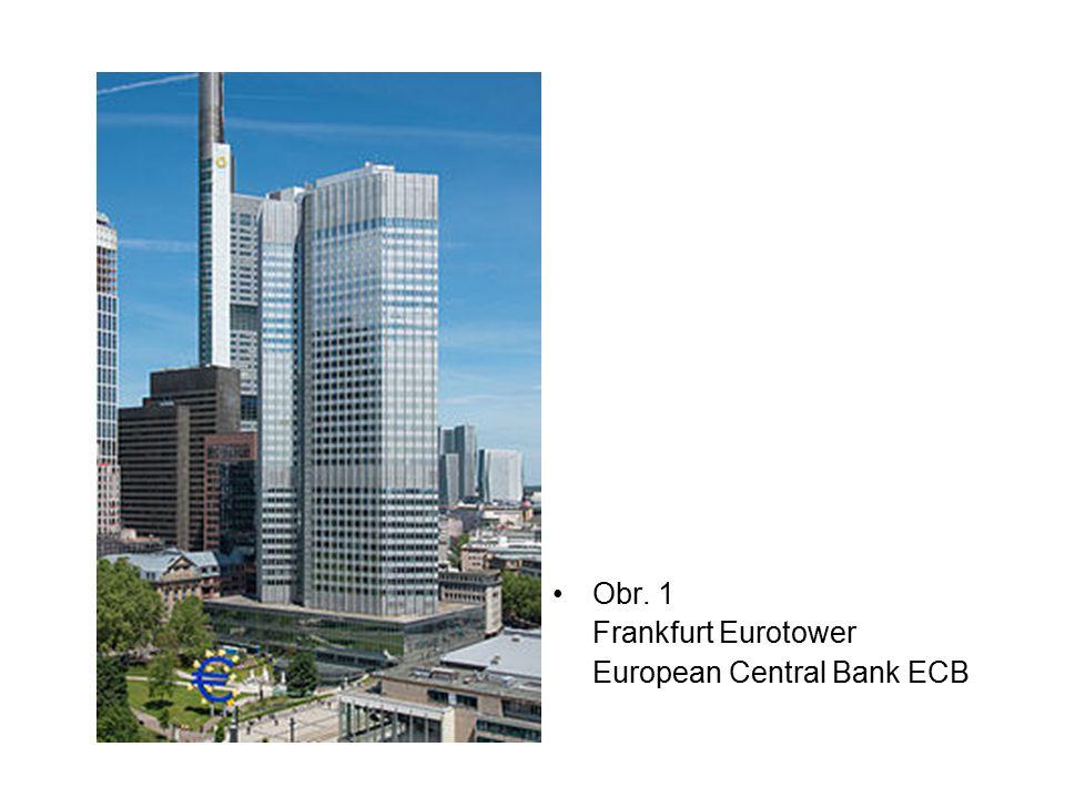 Obr. 1 Frankfurt Eurotower European Central Bank ECB