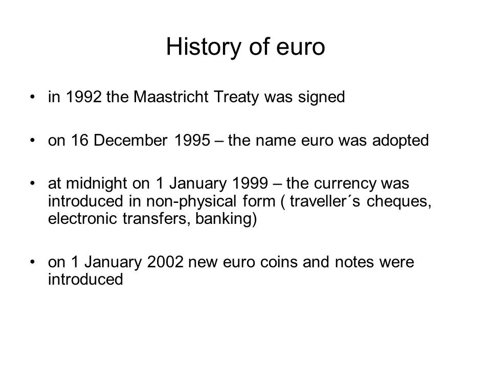 Try to fill in missing words The euro was launched on 1 …….1999, when it became the ……of more than 300 million people in…....