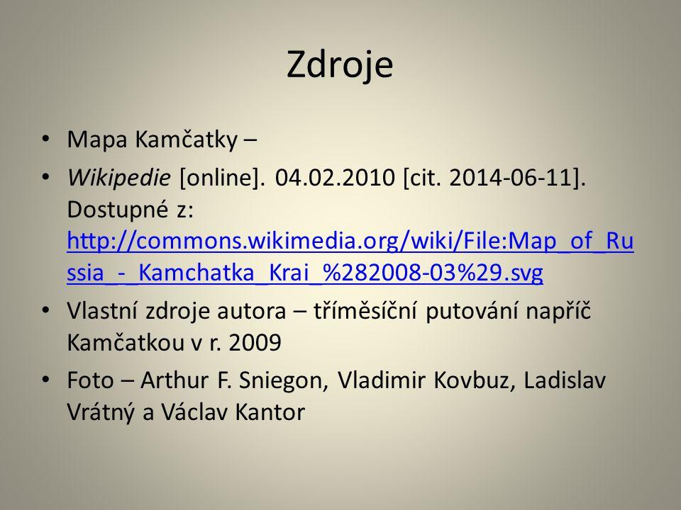 Zdroje Mapa Kamčatky – Wikipedie [online]. 04.02.2010 [cit.