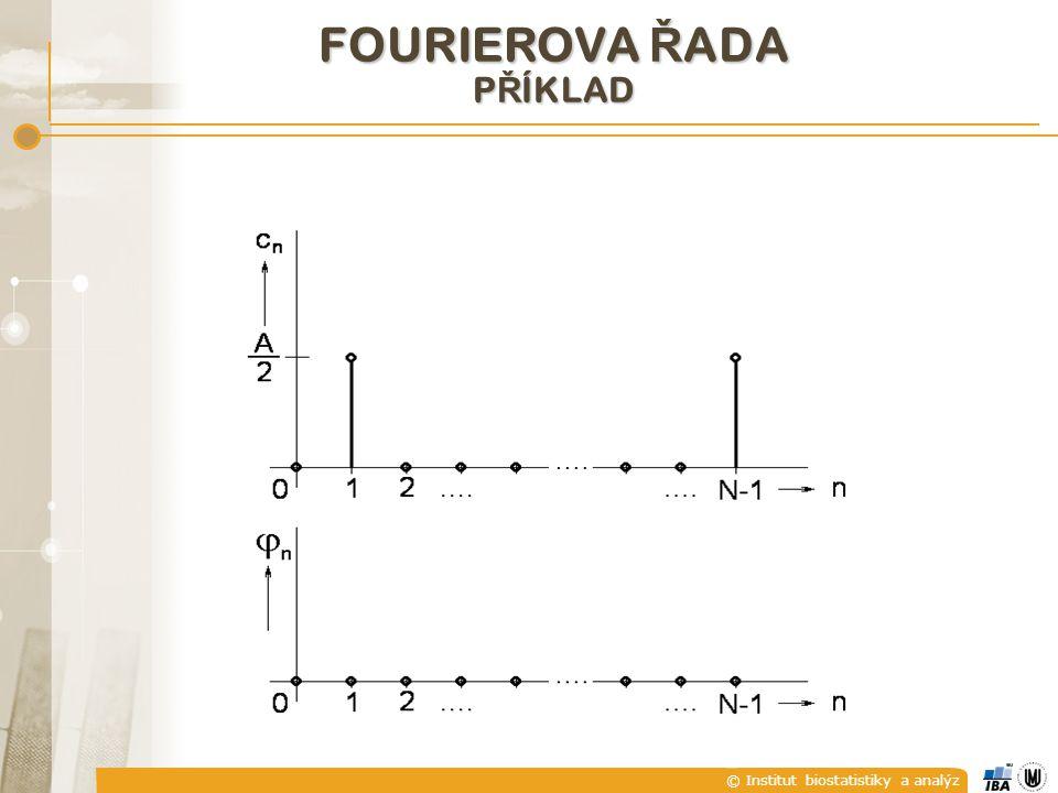 © Institut biostatistiky a analýz FOURIEROVA Ř ADA P Ř ÍKLAD