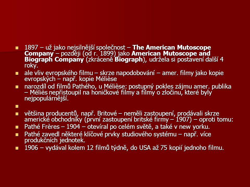 1897 – už jako nejsilnější společnost – The American Mutoscope Company – později (od r. 1899) jako American Mutoscope and Biograph Company (zkráceně B
