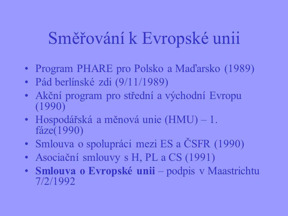 Řecko (GR) (1981) Španělsko (E) (1986) Portugalsko (P) (1986) Obr. 3 Druhé (1981) a třetí (1986) rozšíření EU