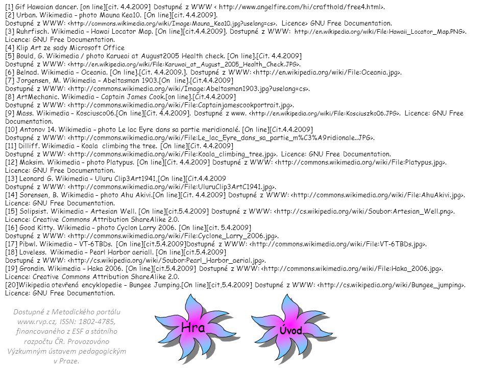 [1] Gif Hawaian dancer.[on line][cit. 4.4.2009] Dostupné z WWW.