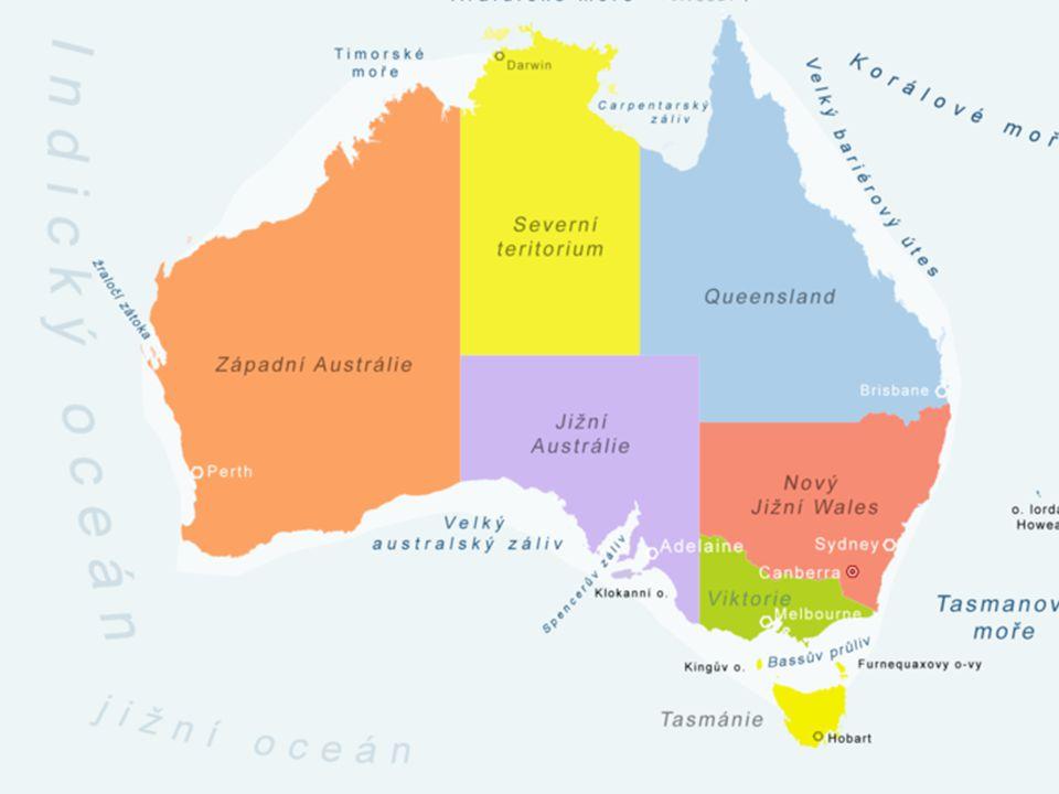 S pomocí daného satelitního snímku a příslušné mapy ve vašem školním atlase se pokus charakterizovat povrch a vodstvo Austrálie.