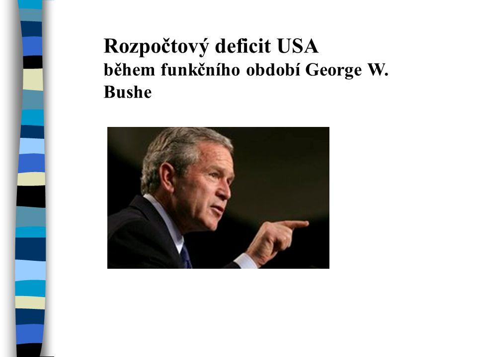 Rozpočtový deficit USA během funkčního období George W. Bushe