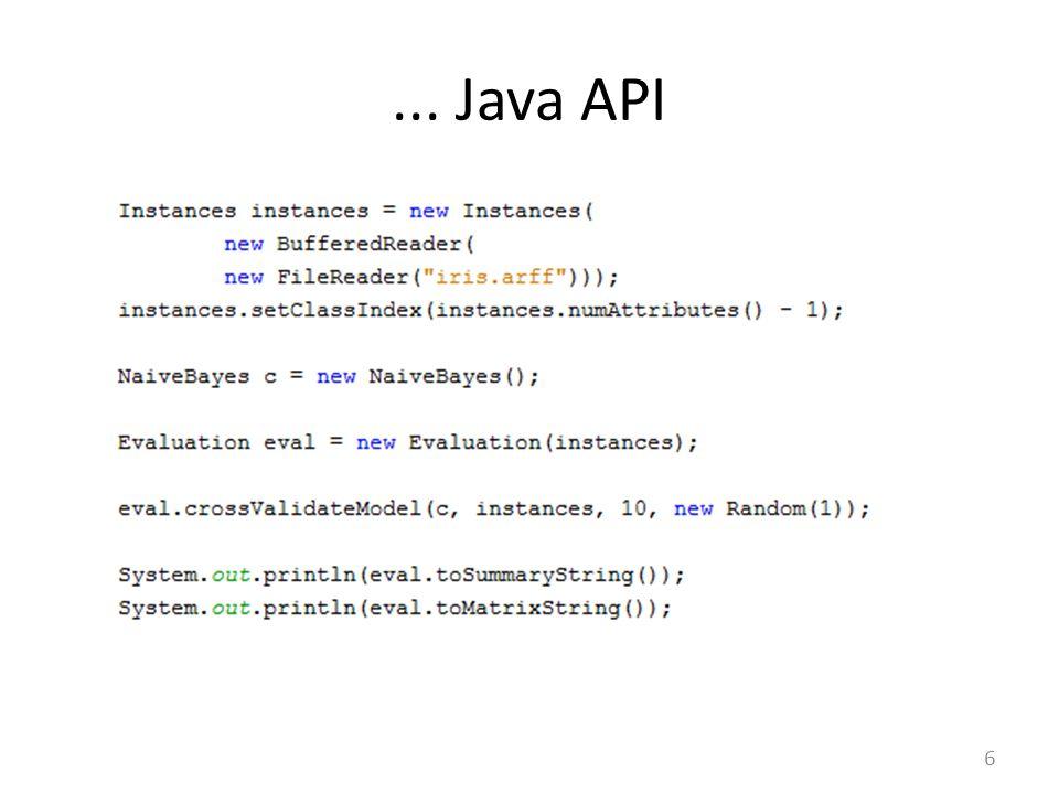 ... Java API 6