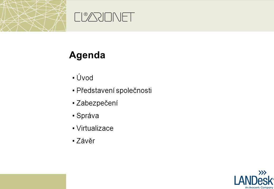 Agenda Úvod Představení společnosti Zabezpečení Správa Virtualizace Závěr