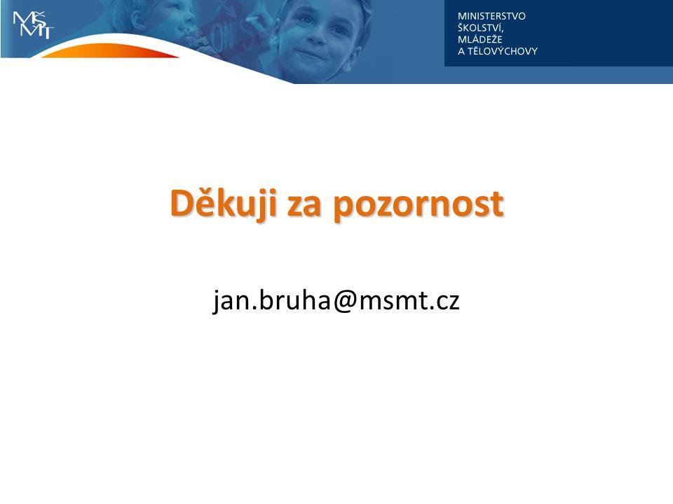 jan.bruha@msmt.cz Děkuji za pozornost