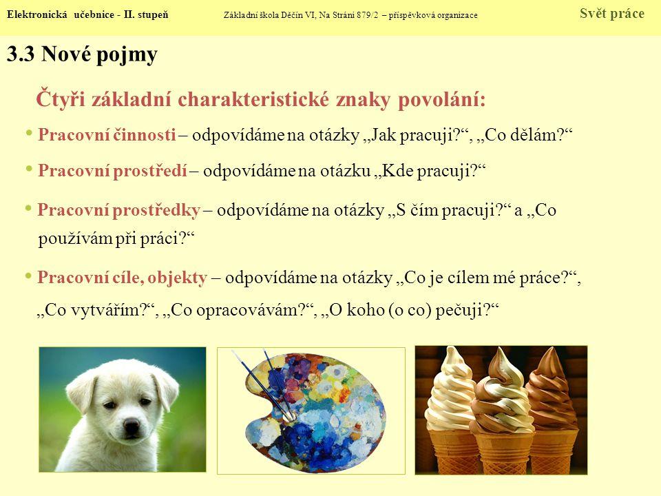3.3 Nové pojmy Elektronická učebnice - II.