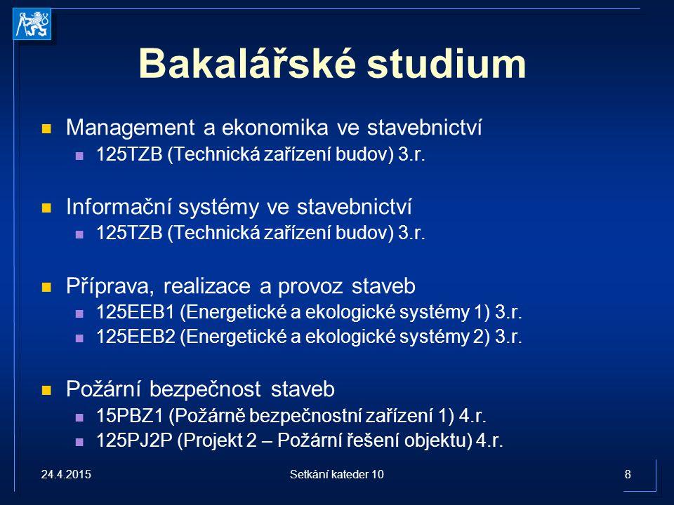 Bakalářské studium Management a ekonomika ve stavebnictví 125TZB (Technická zařízení budov) 3.r.
