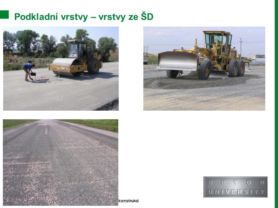 Podkladní vrstvy – vrstvy ze ŠD Stránka 5 Moderní trendy v betonu III. - Provádění betonových konstrukcí