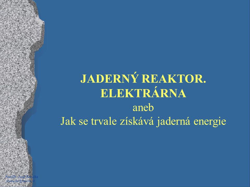 JADERNÝ REAKTOR. ELEKTRÁRNA aneb Jak se trvale získává jaderná energie PaedDr. Jozef Beňuška jbenuska@nextra.sk