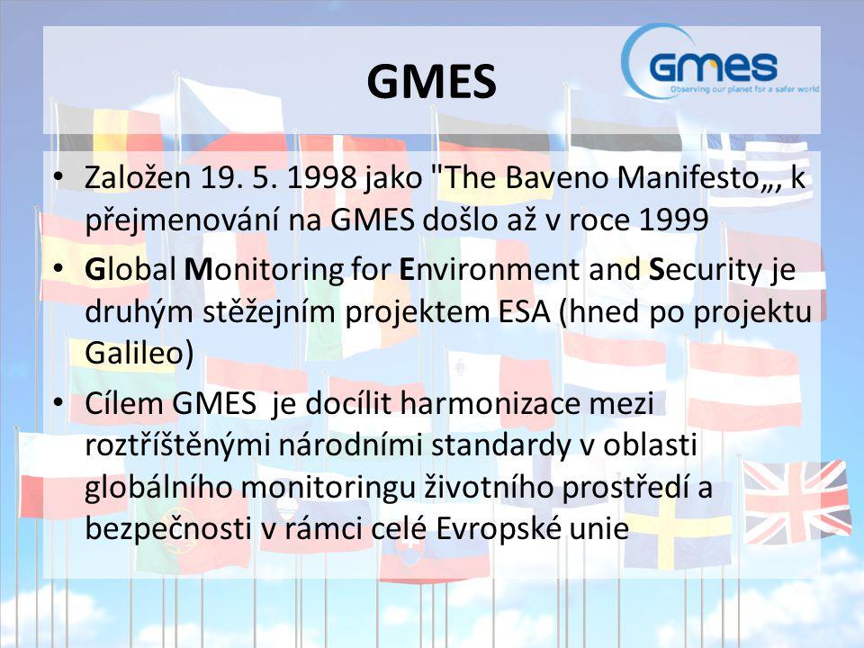 GMES Založen 19. 5. 1998 jako