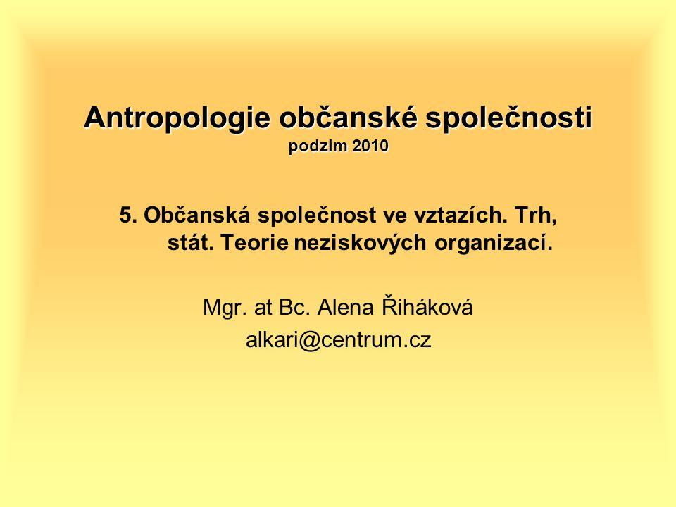 Antropologie občanské společnosti podzim 2010 5.Občanská společnost ve vztazích.