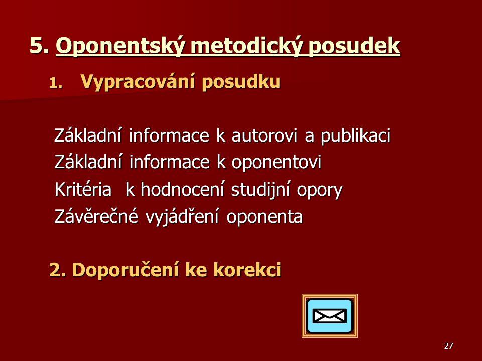 27 5.Oponentský metodický posudek 1.