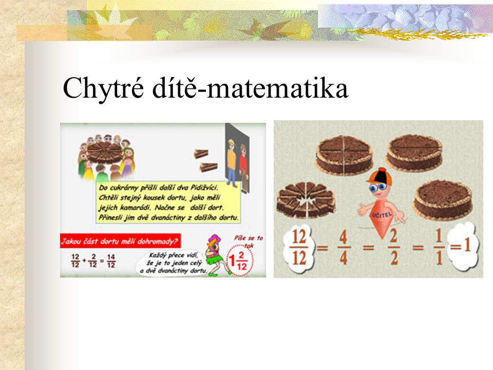 Chytré dítě-matematika