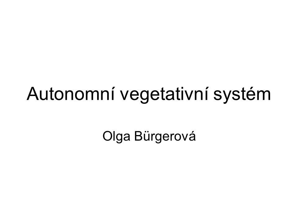 Autonomní vegetativní systém Olga Bürgerová