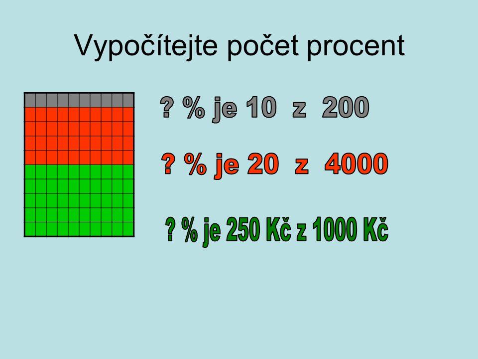 Výpočet počtu procent .% je 700 Kč z 3500 Kč …………..