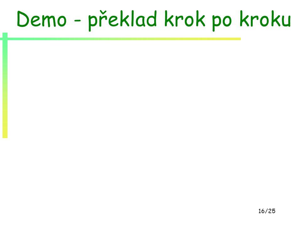 16/25 Demo - překlad krok po kroku