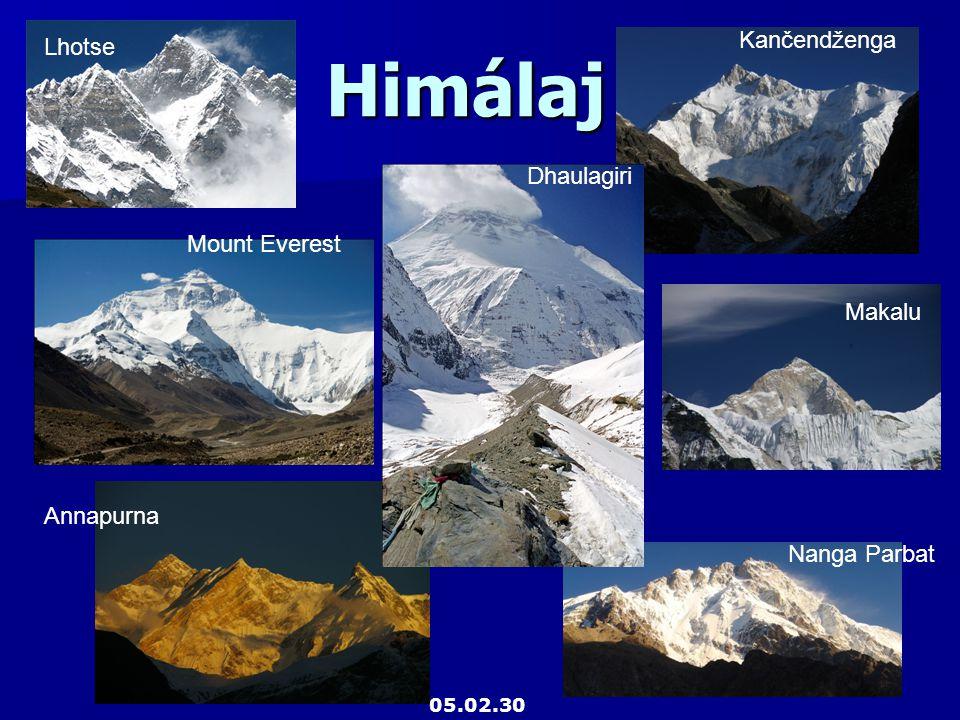 Himálaj Lhotse Mount Everest Kančendženga Makalu Annapurna Nanga Parbat Dhaulagiri 05.02.30