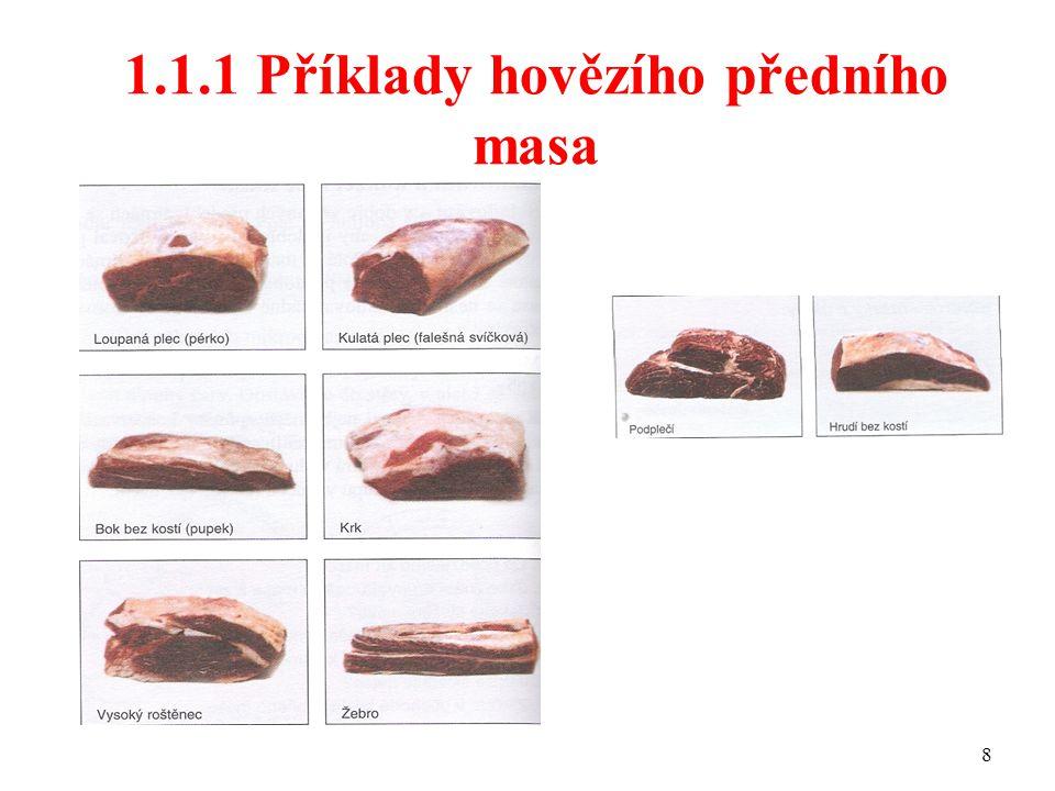 1.1.1 Příklady hovězího předního masa 8