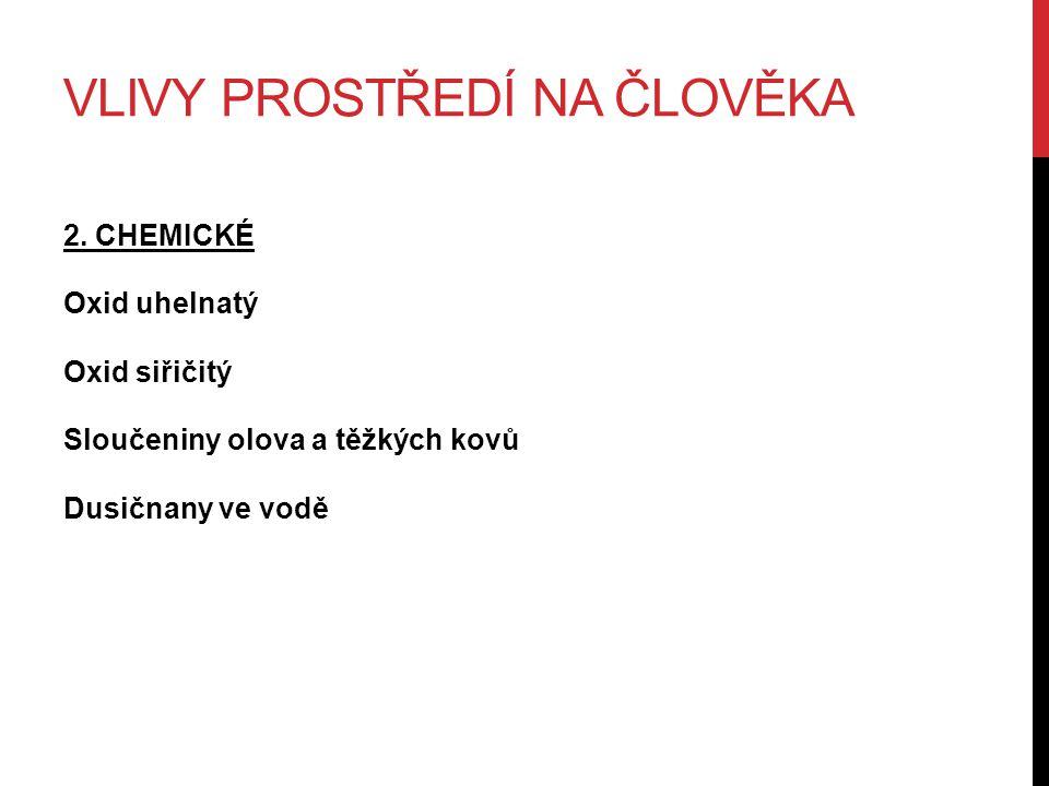 VLIVY PROSTŘEDÍ NA ČLOVĚKA 2.