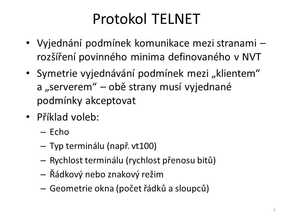 Protokol TELNET 15