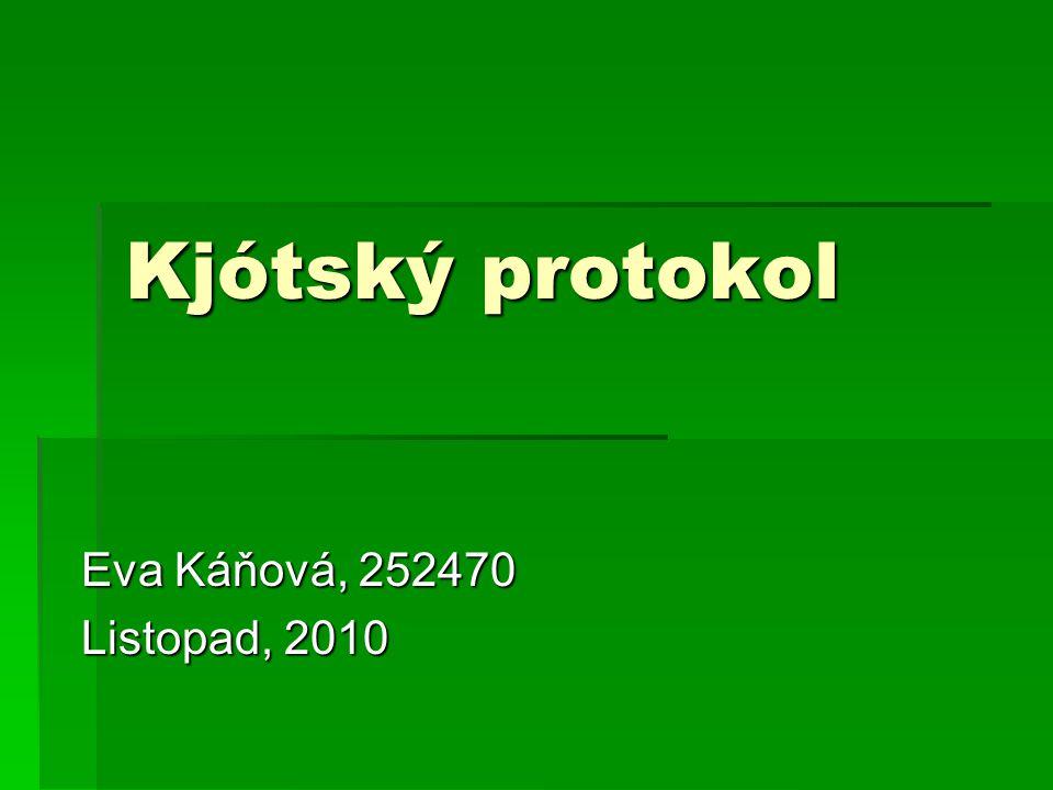 Kjótský protokol Eva Káňová, 252470 Listopad, 2010