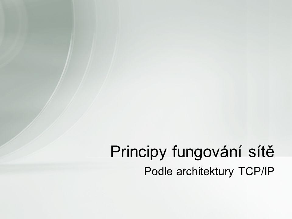 Podle architektury TCP/IP Principy fungování sítě