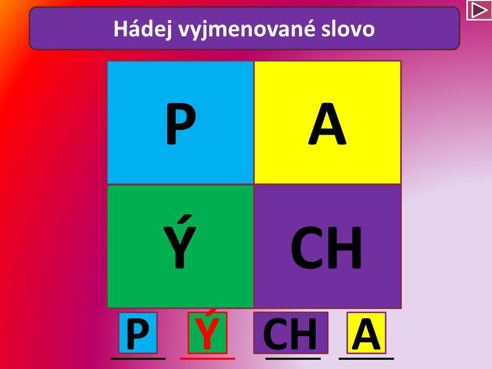 Hádej vyjmenované slovo PYKAT T AY K P