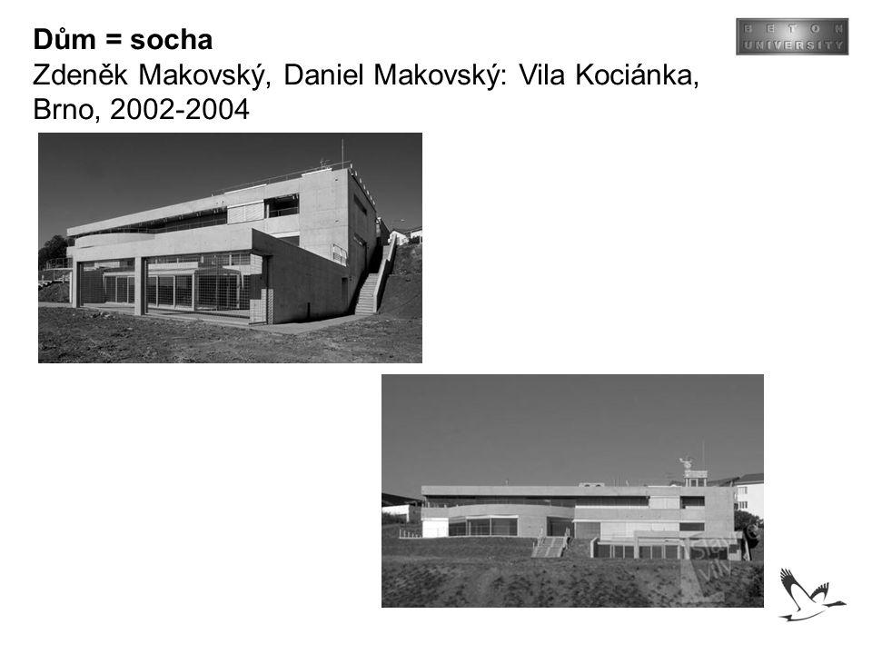 Dům = socha Zdeněk Makovský, Daniel Makovský: Vila Kociánka, Brno, 2002-2004