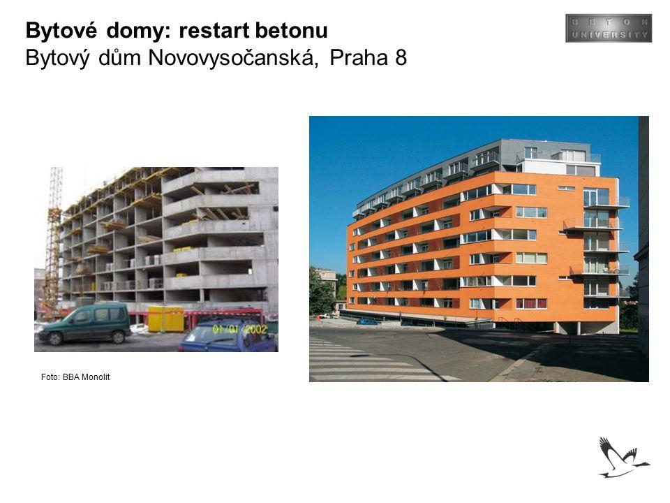 Bytové domy: restart betonu Bytový dům Novovysočanská, Praha 8 Foto: BBA Monolit