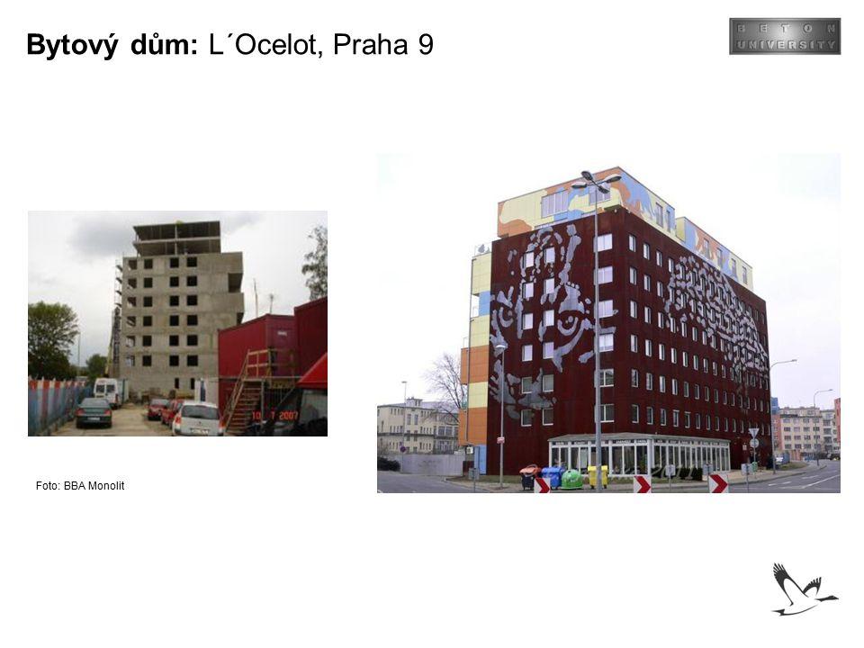 Bytový dům: L´Ocelot, Praha 9 Foto: BBA Monolit