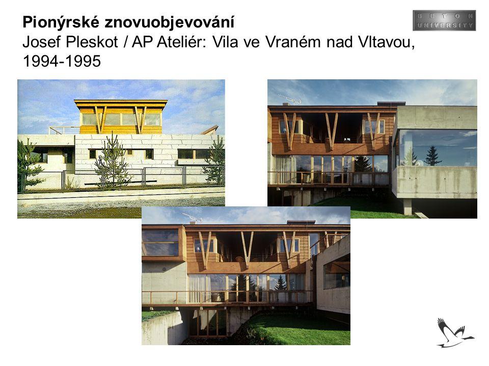 Pionýrské znovuobjevování Josef Pleskot / AP Ateliér: Vila ve Vraném nad Vltavou, 1994-1995