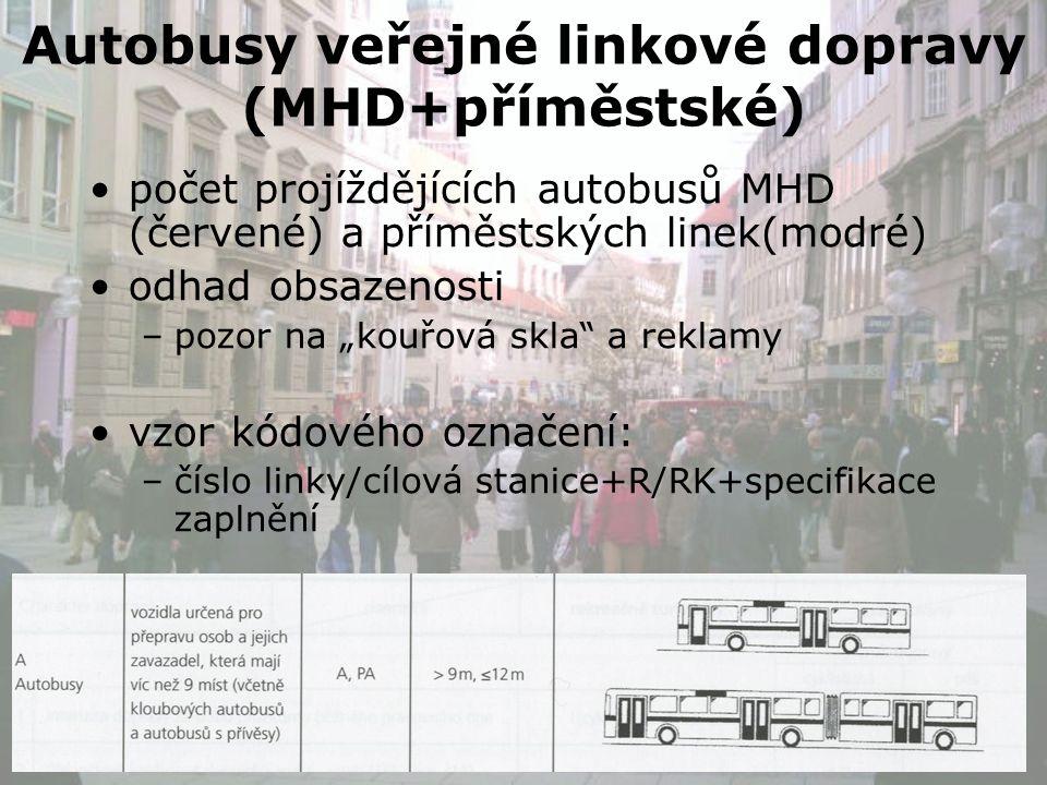 Příklady označení autobus MHD linky č.