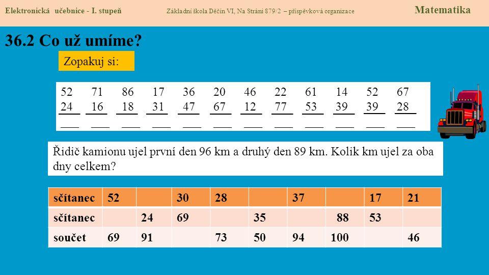 36.3 Co si řekneme nového Elektronická učebnice - I.