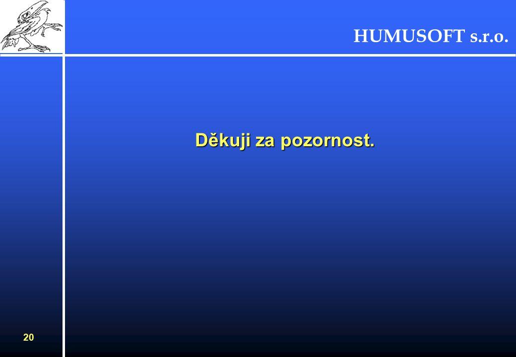 HUMUSOFT s.r.o. 19 Parametrický řešič Zatížení nádoby vodou Zatížení nádoby vodou