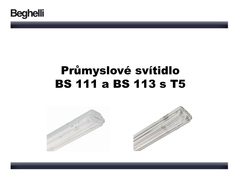 Průmyslové svítidlo BS 111 a BS 113 s T5