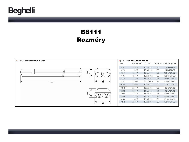 BS111 Rozměry