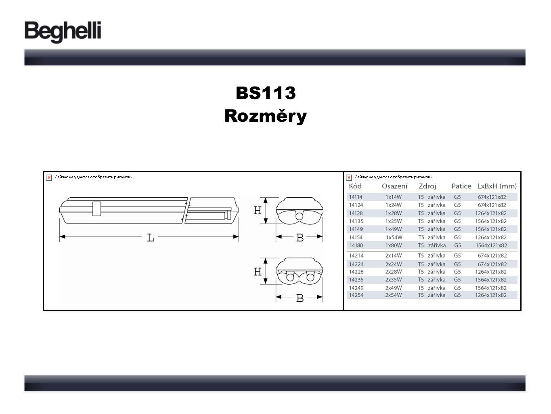 BS113 Rozměry