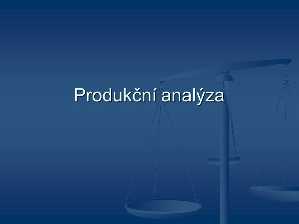 Produkční analýza