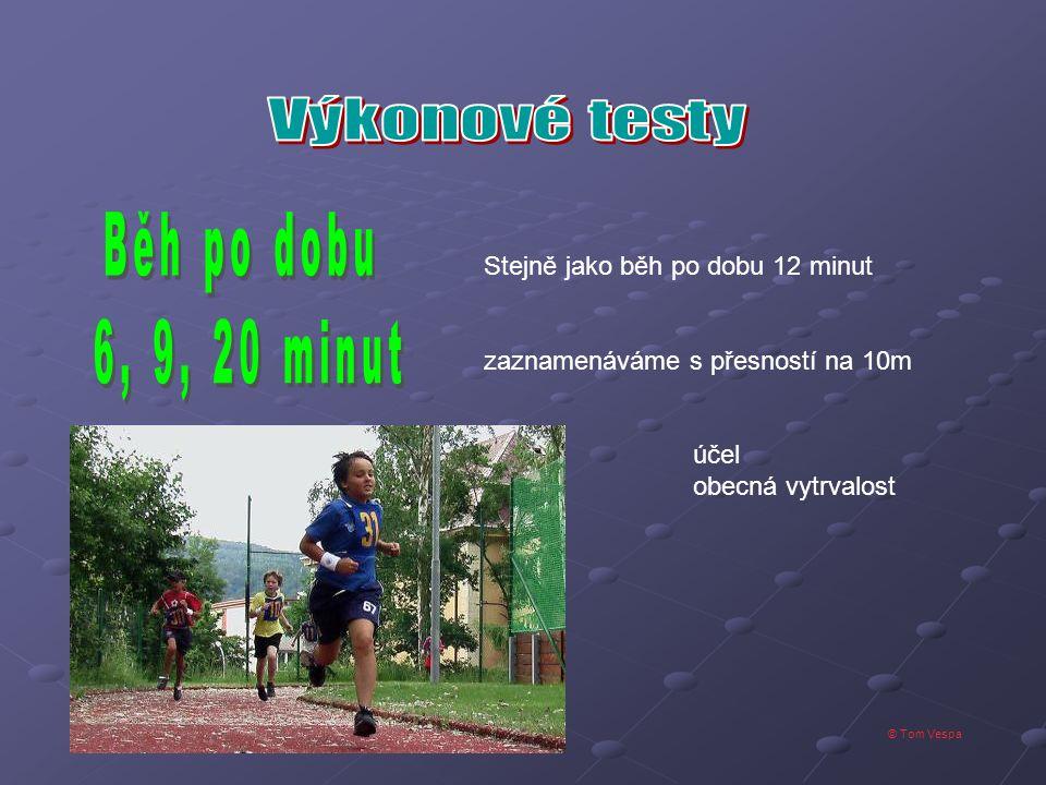 © Tom Vespa Stejně jako běh po dobu 12 minut zaznamenáváme s přesností na 10m účel obecná vytrvalost