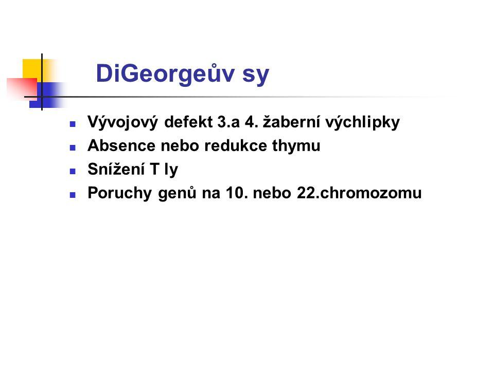 DiGeorgeův sy Vývojový defekt 3.a 4.